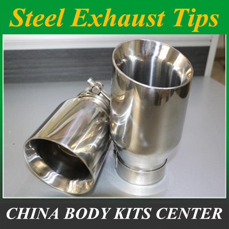Newest Style stainless steel universal exhaust system end pipe+car exhaust tip 1 piece