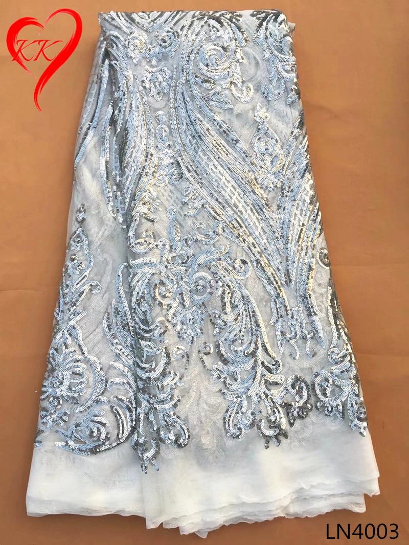 722d4df9e Ln40 KK lentejuelas tulle encaje de tela de alta calidad Africana tela de  encaje Francés para el vestido de Partido de las mujeres 2017 telas  nigerianas del ...
