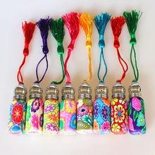 20個50個6ミリリットル香水瓶ポリマークレイ詰め替えとエッセンシャルオイルバイアル金属ローラーボール