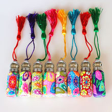 20pcs 50pcs 6ml Roll On Perfume Bottles Polymer Clay Glass Bottle Refillable Essential Oil Vials with Metal Roller Ball