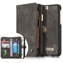 For iPhone 6 plus 6s Plus Cases CASEME Vintage Split Multi-slot Wallet Cover for iPhone 6s Plus  6 Plus – 5.5 inch