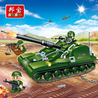 BanBao Military Educational Building Blocks Toys For Children Kids Gifts Tobess Hero War Army Tank Weapon Guns Stickers