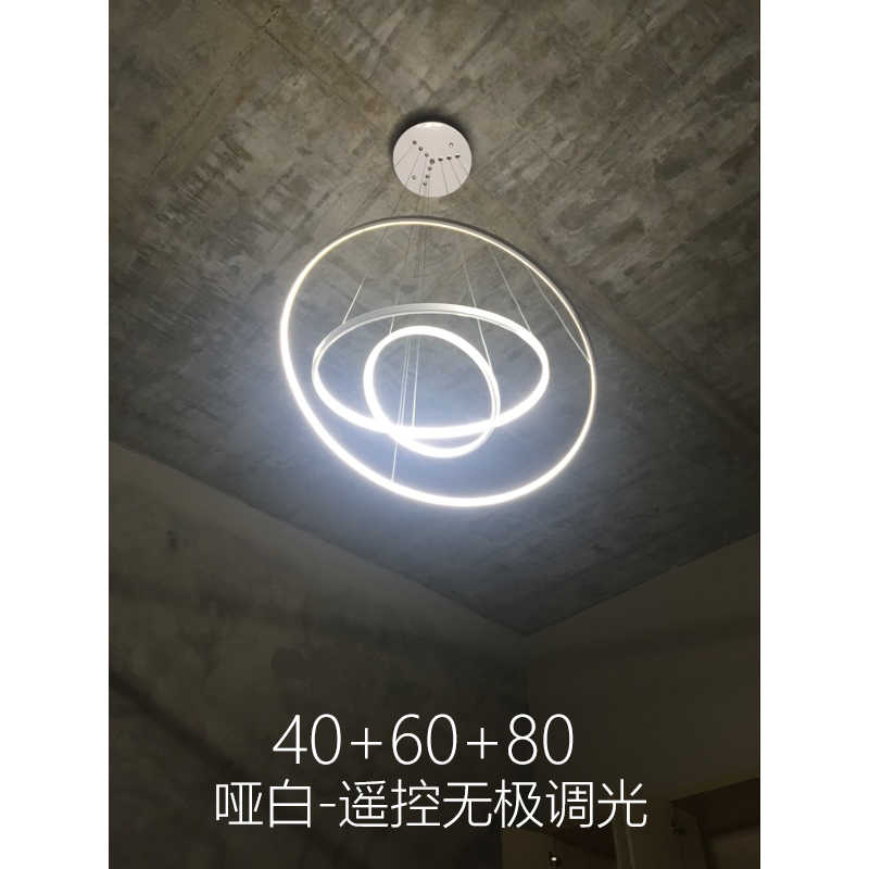 Creative led living room chandeliers modern minimalist personality art golden circle round ring bedroom restaurant lamps led
