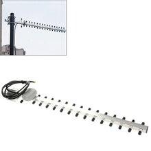 New High Gain WiFi Antenna 15 unit Yagi Antenna 18dbI N-Female Plug 2G 3G 1710-2170mhz Yagi outdoor Antenna for Booster Repeater