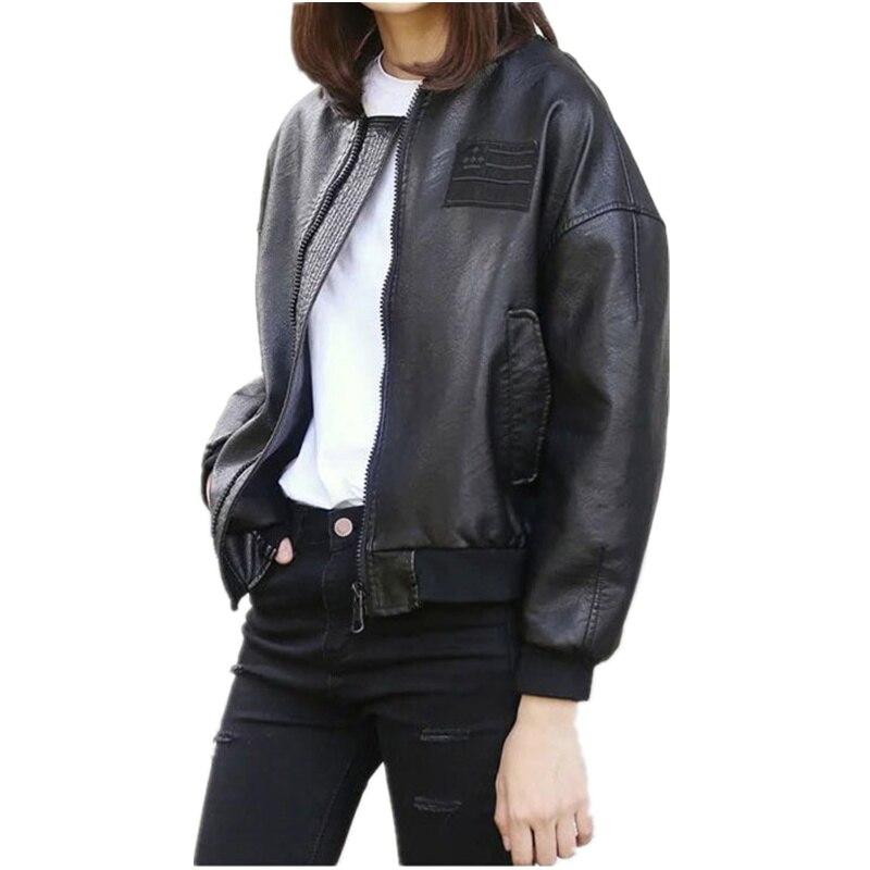 Automne Cuir 2018 Veste En Mode Pu Wuj0753 Femelle Femmes Moto Ventes Chaudes Manteau Printemps Black Style De 0qwB7f