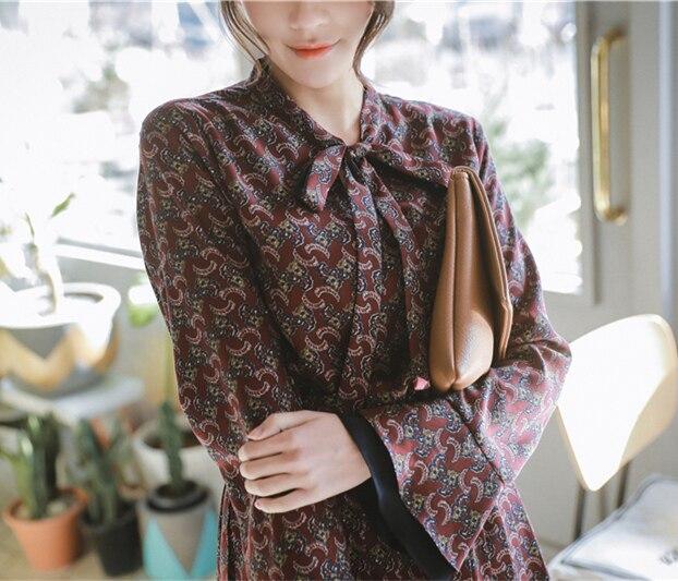 S XL Plus size 2018 New Summer Spring Women a line Cotton OL Casual long Sleeve Dresses Female Dress grid Shirt dress