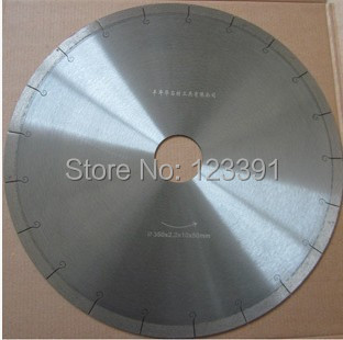 ФОТО Free shipping of 1PC thin kerf 300*60/50*2.2*10mm hook slot silencer balde for hard ceramic tile/microcrystalline stone cutting
