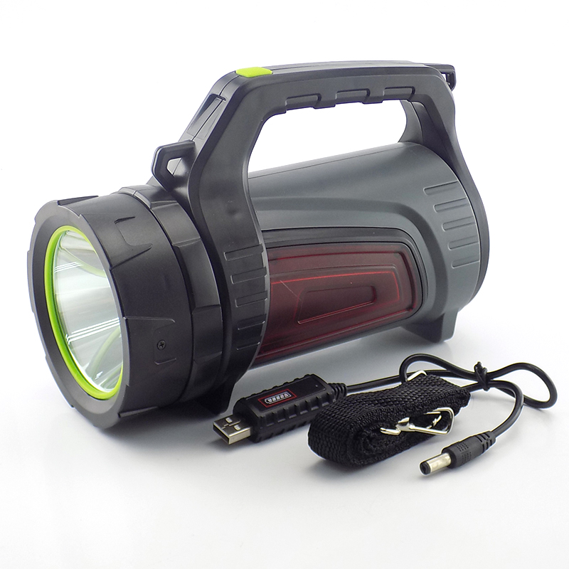 Super bright USB LED hand flashlight light lamp Search Rechargeable torches lanterna Powerful lampe de poche long range Camping