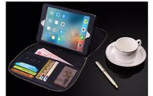 For Apple iPad mini 1/2/three Case with pockets card slots Top quality PU Leather-based Bag for iPad mini four Cowl Pill Equipment+Presents