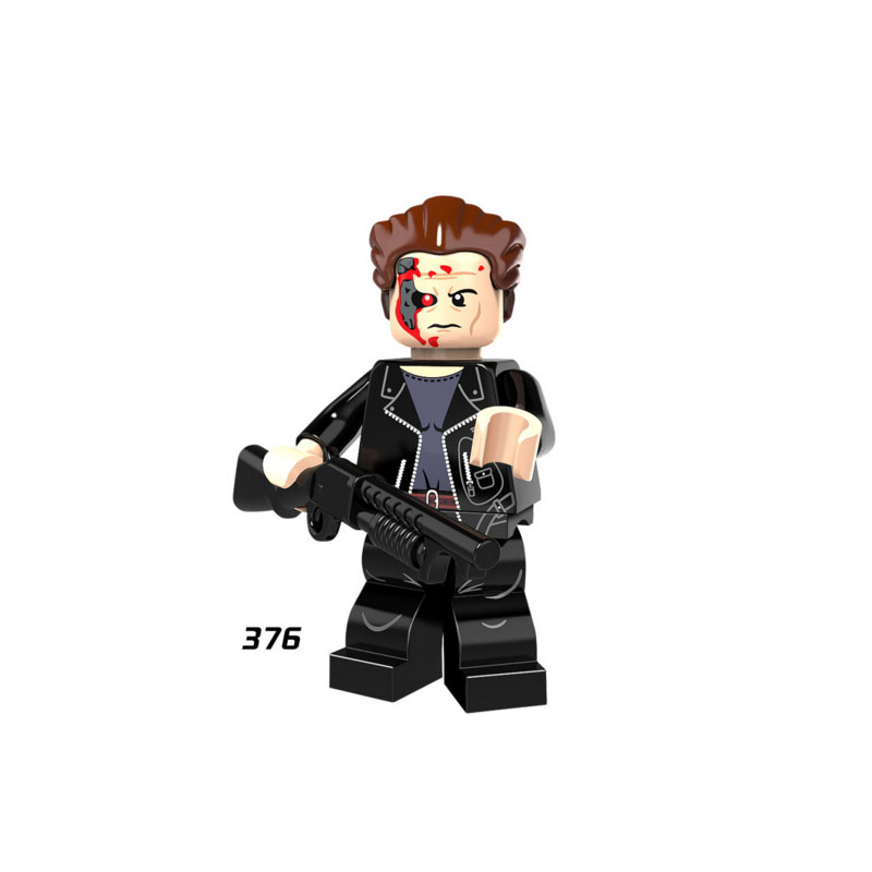 Single Sale Super Heroes Star Wars 376 The Terminator Model Mini Building Blocks Figure Brick Toy Gift Compatible Legoed Ninjaed