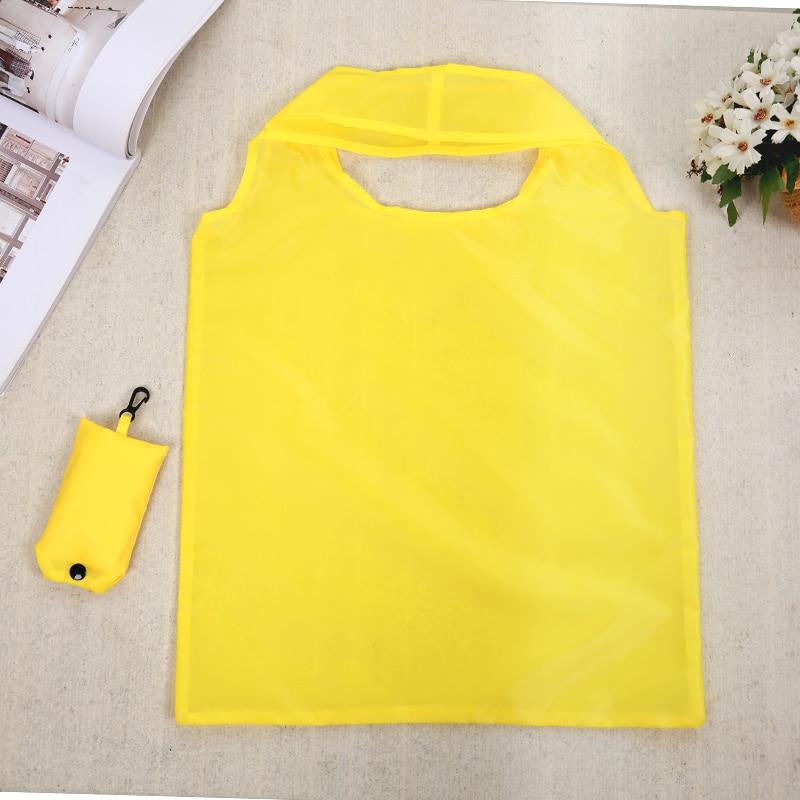 Portable Folding Shopping Bag Large Nylon Bags Thick Bag Foldable Waterproof Ripstop Shoulder Bag Handbag Free Shipping
