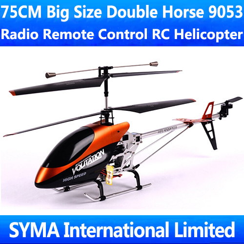 75CM 3.5CH Gyro Large Big Classic Model Double Horse 9053 Radio Remote Electric Control Metal RC Helicopter DH9053 Big Kids Toys
