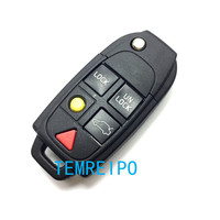 Replacement Shell Folding Flip Smart Keyless Entry Remote Key Case Fob 5 Button For VOLVO S80 S60 V70 XC70 XC90