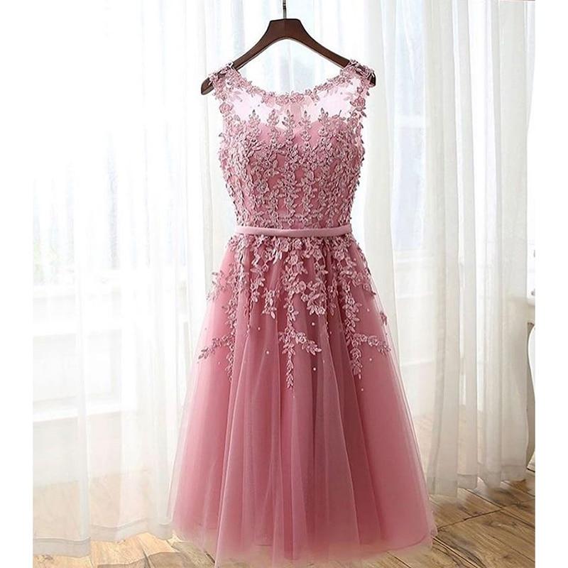 Wunderbar Rosa Kurze Kleider Für Prom Fotos - Brautkleider Ideen ...