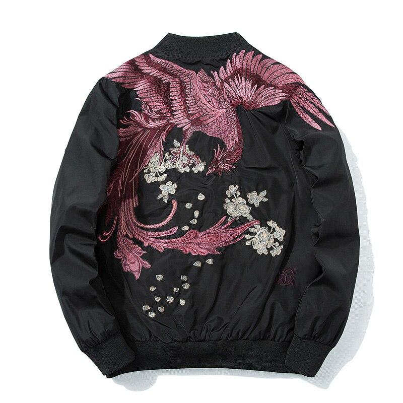 Дропшиппинг оптовиков поставщика 2018 Весна High Street Новый Феникс Вышивка куртка для мужчин