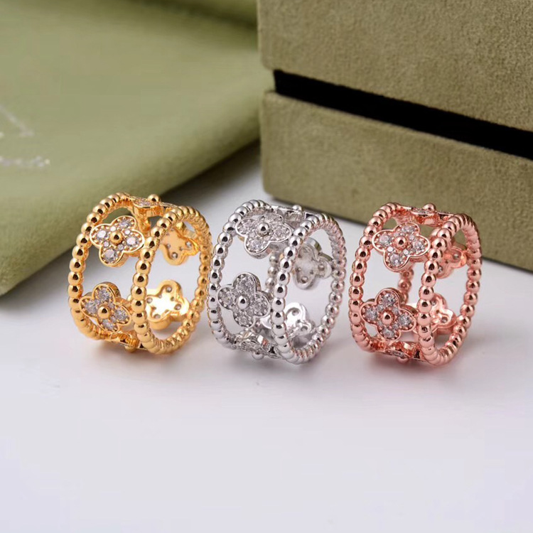 Middle east Muslim High quality brand kaleidoscope hollowed out with cz ring full AAA stones wedidng love rings wholesale everyday life in the muslim middle east