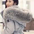 Solid Color Jacket Women Big Raccoon Fur Hooded Parka Plus Size Outwear Coat Long Big Pocket Thick Winter Tops Femme MZ922