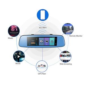 "Image 2 - Phisung E06 4G Auto DVR 7.84 ""Touch ADAS Remote Monitor achteruitkijkspiegel met DVR en camera Android dual lens 1080P WIFI dashcam"