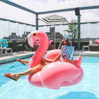 1.5M Inflatable Flamingo Pool Float Unicorn Inflatable Swimming Ring Adult Water Bed Pool Party Flamingo Inflatable Swim Circle