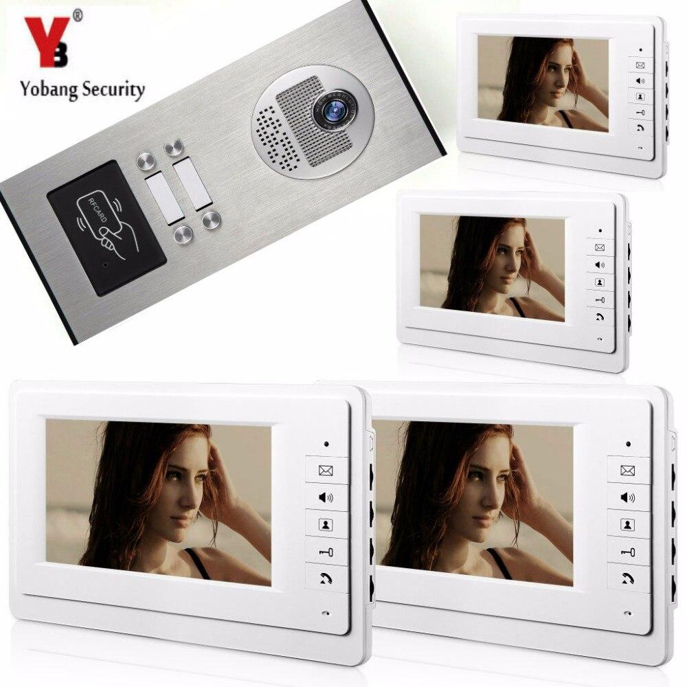 Yobang Security 4 Monitor Villa Apartment Video Intercom 7