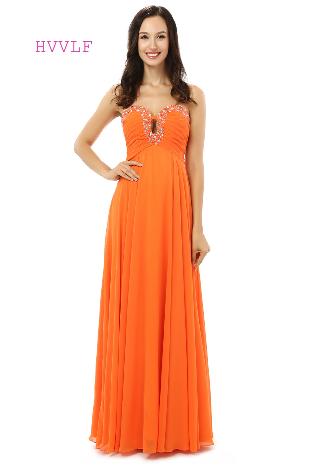 Online buy wholesale orange maternity dresses from china orange orange evening dresses 2017 a line sweetheart chiffon beaded crystals maternity women long evening gown ombrellifo Images