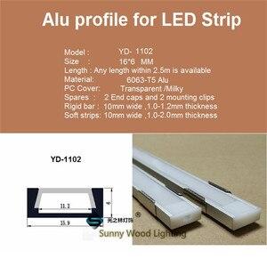 Image 5 - 5 30 Teile/los 1m 40 Inch/Pc Aluminium Profil Led streifen Kanal 8 11mm PCB Board Bar licht Gehäuse Ersatzteile Linear Decken Schrank