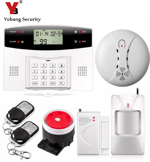 YobangSecurity Wireless GSM Home Security Burglar Alarm System Russian French Spanish Italian Czech Voice Door PIR Alarm Sensor yobangsecurity english spanish russian voice 4 wire 100 wireless defense zones gsm pstn home alarm system door window sensor kit