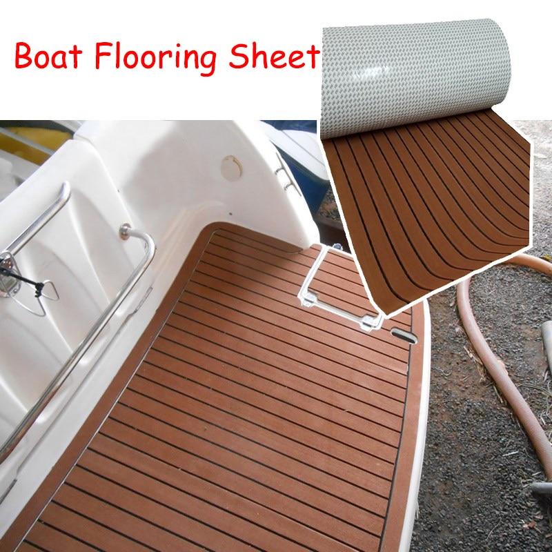 240 cm EVA bateau Yacht feuille Pad RV camping-car caravane auto-adhésif teck platelage mousse Marine plancher Faux bateau Yacht
