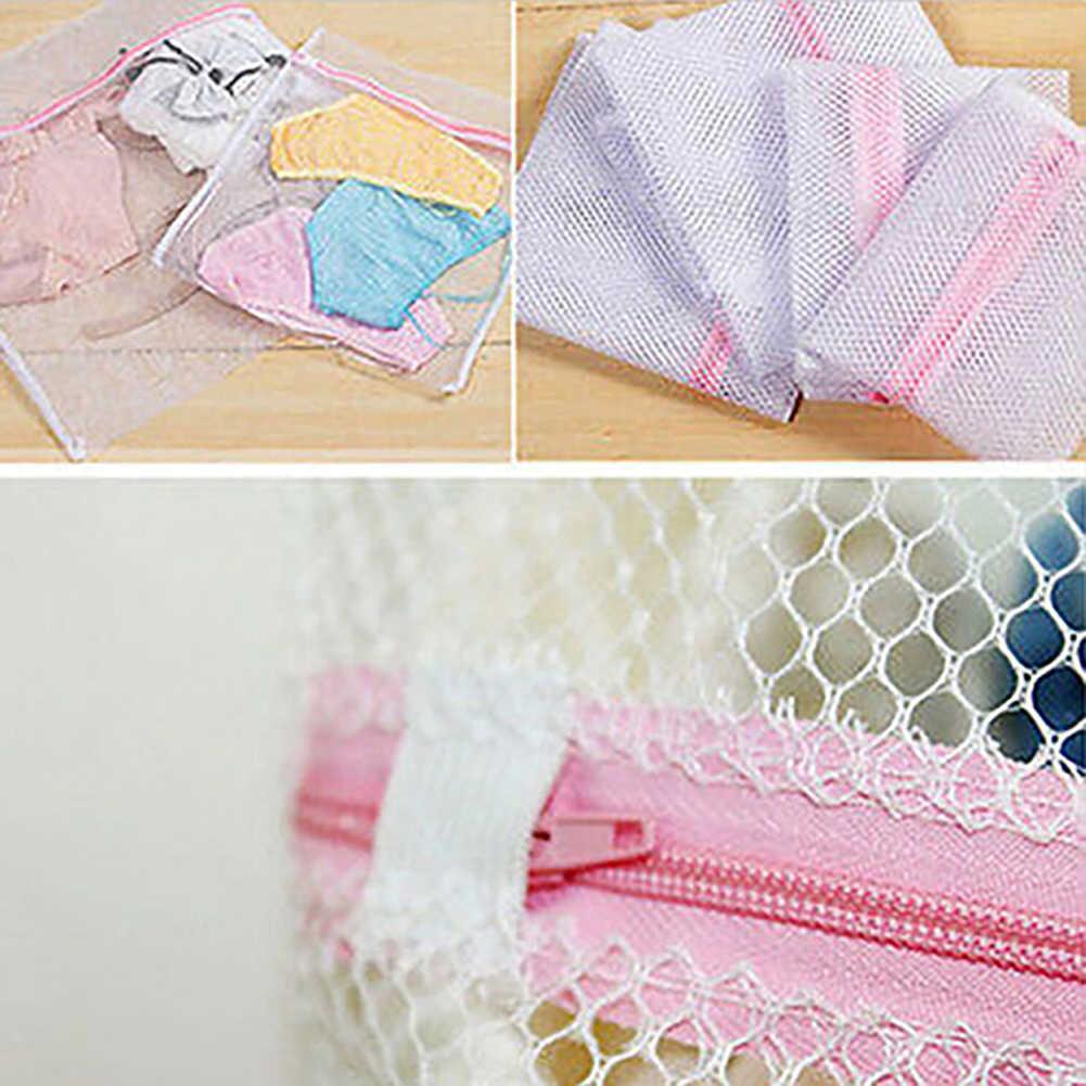3 Sizes Underwear Clothes Aid Bra Socks Laundry Washing Machine Net Mesh Bag Laundry Storage & Organization new