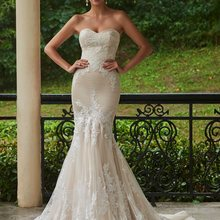 Sweetheart Mermaid Lace Appliques Wedding Dress 2019