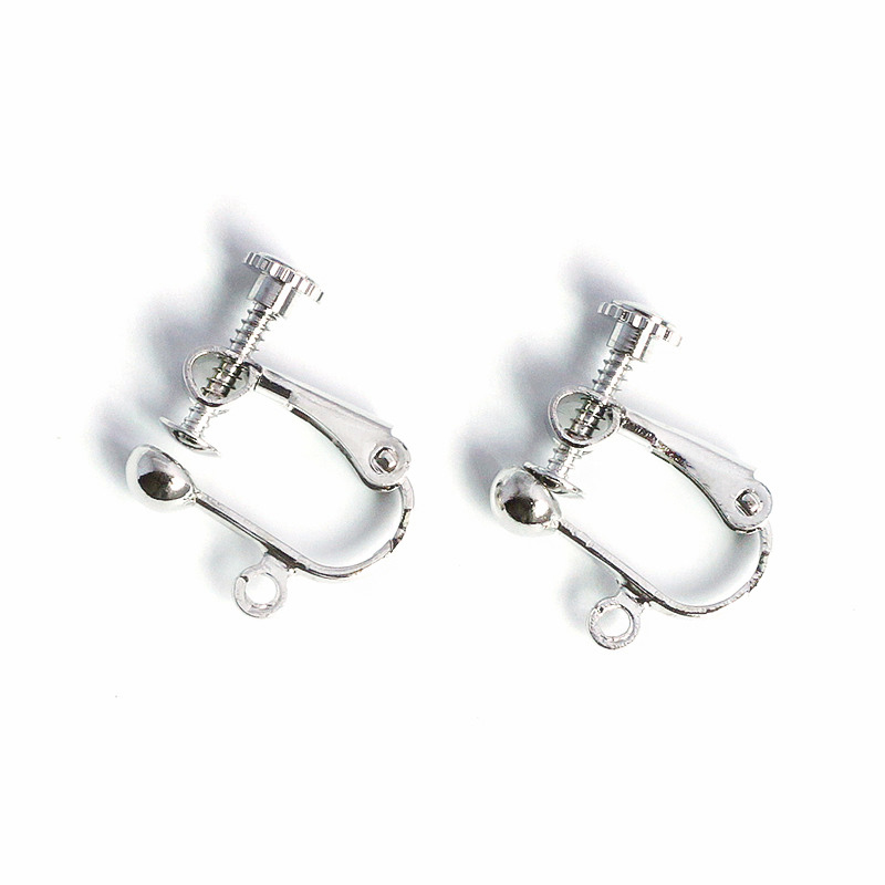 Image 2 - 100pcs/Lot No Hole Ear Clips DIY Handmade Earrings Parts Screw Ear Clip Without Piercing Jewelry Findings Wholesale AS05 100-in Jewelry Findings & Components from Jewelry & Accessories