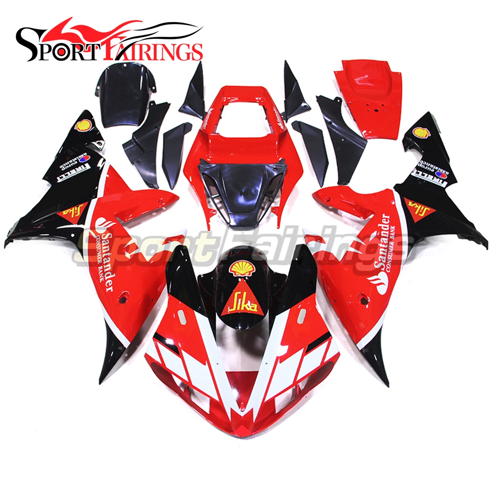Injection Fairings For Yamaha R1 02 03 YZF1000 2002 2003 ABS Motorcycle Fairing Kit Bodywork Cowling SIKA Santander Red Black