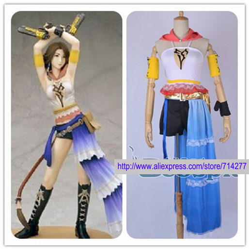 Custom Made Yuna cosplay Costume from Final Fantasy For Halloween Carnival Christmas