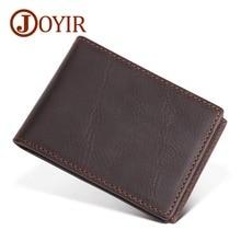 JOYIR New Genuine Leather Men Card Bag Retro Drivers License Holder Wallet Cowhide Credit