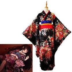 Jigoku Shoujo Enma Ai Maid Dress Kimono Yukata Uniform Outfit Anime Cosplay Costumes