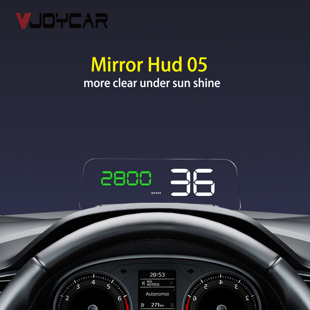OBD HUD Mirror C500 Car Head Up Display Digital Speedometer Projector Security Alarm Water Temp RPM Overspeed Volt PK GPS T900