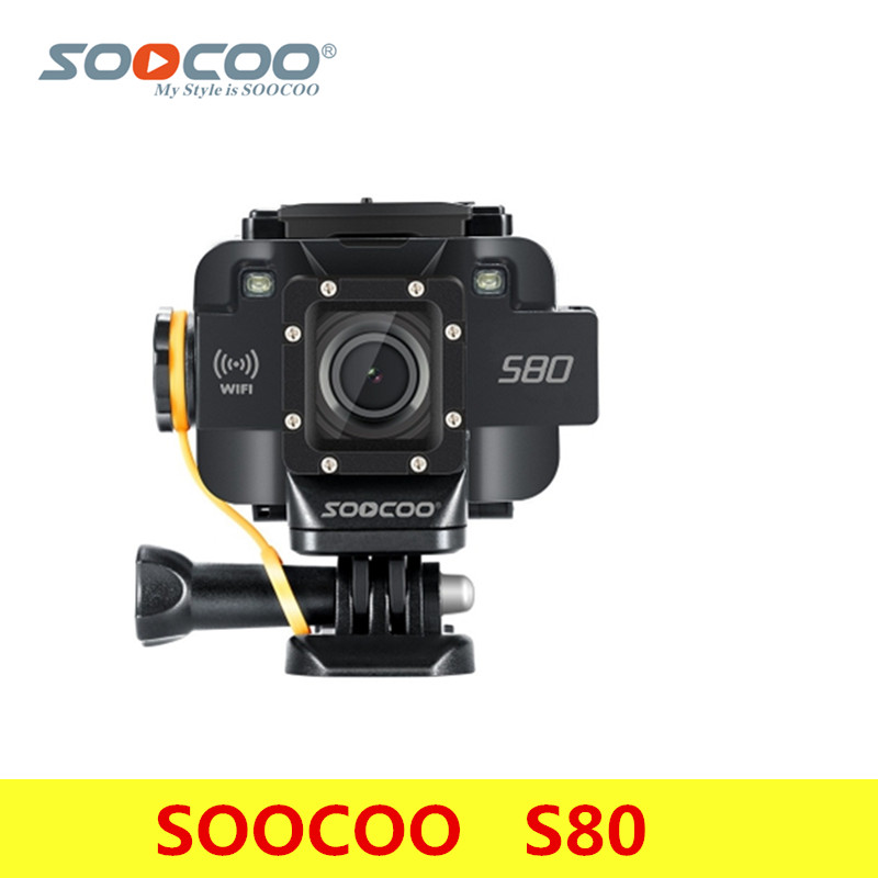 SOOCOO S80 Action Camera 20m Waterproof Mini Video Build-In WIFI Sport DV Sport Camera Starlight Night Vision Support Microphone f88 action camera black