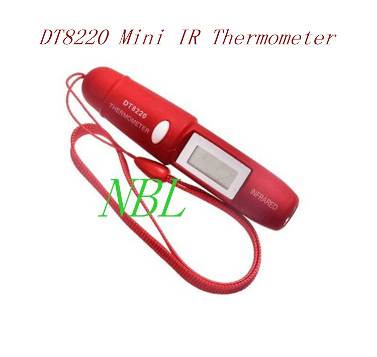 Brand Mini Pen Type Non-Contact Infrared IR Digital LCD Thermometer DT8220 Up to 220 Degree for Household Adult and Child Health