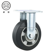 New style 5 inch Heavy duty aluminum core rubber fixed casters
