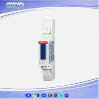 Aletler'ten Enerji Sayaçları'de SDM120 Modbus RS485 Enerji Ölçer Tek Fazlı RTU Enerji Ölçer Dijital LCD Din Demiryolu Enerji Ölçer 230 V
