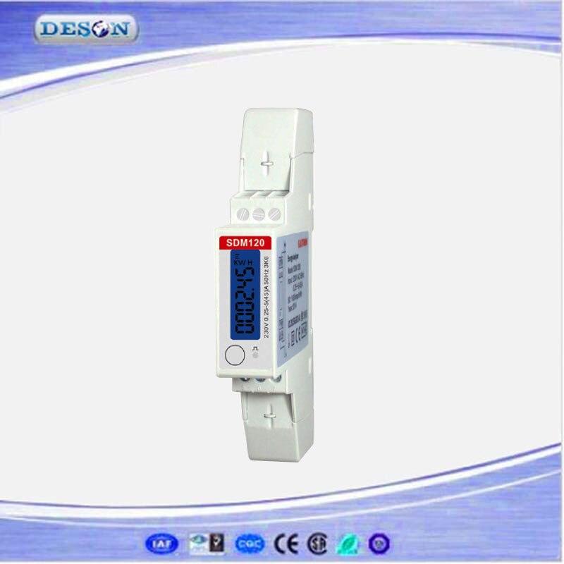 SDM120 RS485 Medidor da Energia Monofásica Modbus RTU Din Rail Medidor de Energia Medidor De Energia Digital de LCD 230 V