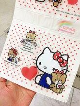 Japanese Cute Hello Kitty 3Lattices Storage Bag Hanging Bag Wall Bedroom Dormitory Hanging Bag   B20