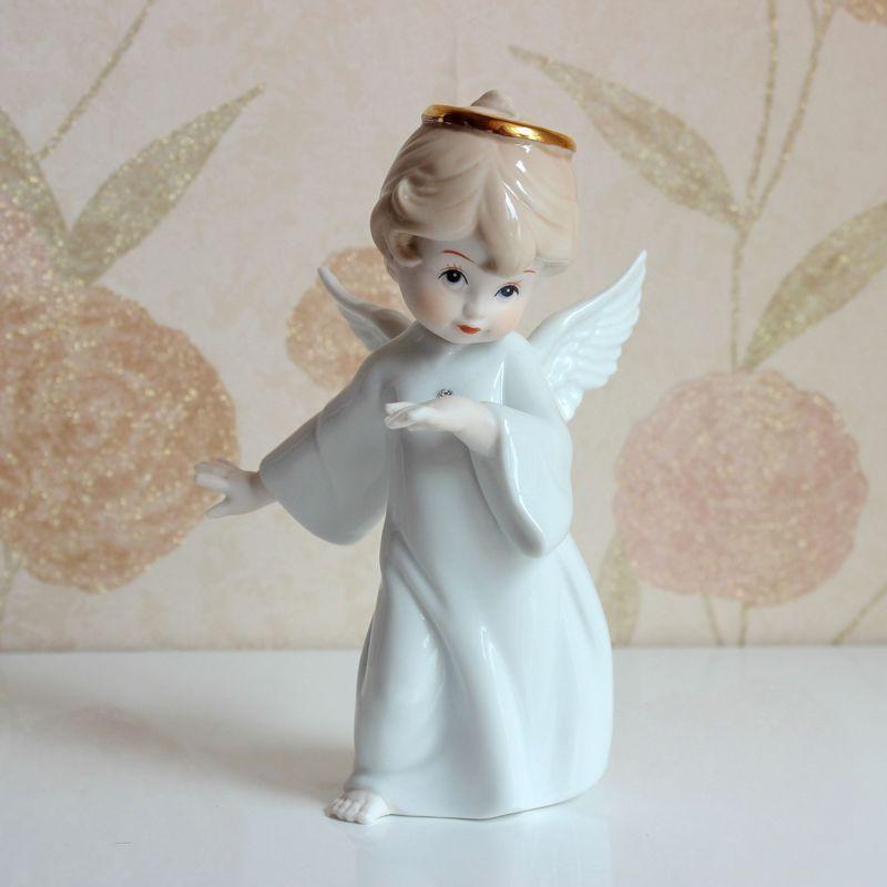 Cute Porcelain Little Angel Figurine Ceramic Angel