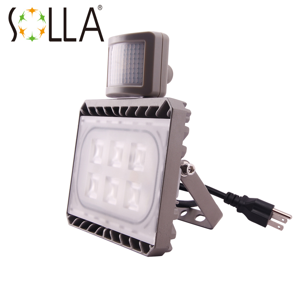 Cree PIR Sensor LED Flood Light 30W AC 100-240V Motion Sensor Outdoor Lighting Waterproof IP65 Floodlight Spotlight Sensor Lamp ultrathin led flood light 200w ac85 265v waterproof ip65 floodlight spotlight outdoor lighting free shipping