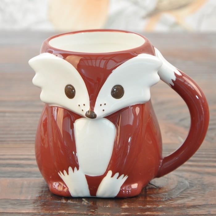 Wedding Coffee Mugs Ceramic Cartoon Milk Cup Home Decor Craft Room Decoration Porcelain Figurine Handicraft
