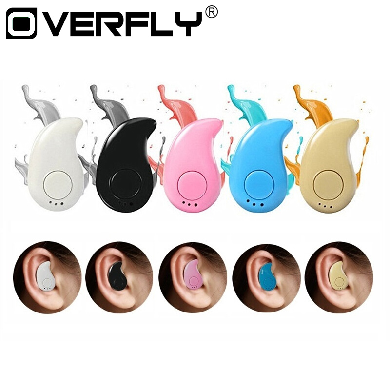 Overfly S530 Bluetooth Earphone Mini Wireless Stereo Music Bluetooth Headphone Headset Earphone Microphone Handsfree For  Xiaomi rock y10 stereo headphone earphone microphone stereo bass wired headset for music computer game with mic