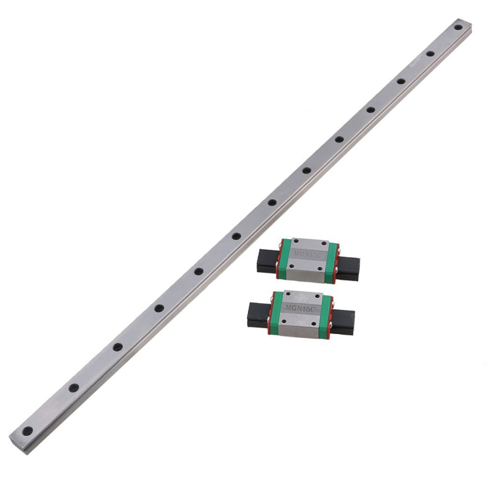 MGN15 500mm Linear Sliding Guideway Rail with Bearing Steel Mini Rail Block Precision Measurement Set of 3 low price for china linear round guide rail guideway tbr20 rail 500mm take with 3 block slide bearings