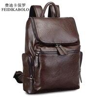 2019 Brand Designer Men Leather Backpack Men's School Backpack Bag Bagpack Mochila Feminina Black brown Travel Bag Shoulder bag