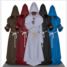 Unisex Renaissance Christian  Priest Cosplay Robe Medieval Monk Sorcerer Pastor Robe Halloween Cosplay Costume cs32465