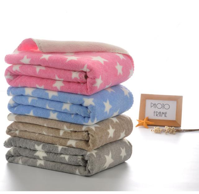 Inverno quente Bebê Recém-nascido Swaddling Cobertor Coral Cobertor de Lã Cobertor Criança 100x75 cm